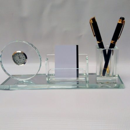 DESK ORGANIZER WITH CLOCK
