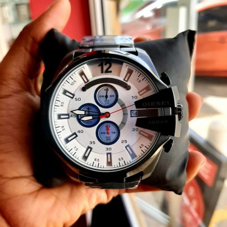 DIESEL  BIG FACE BLACK STRAP
